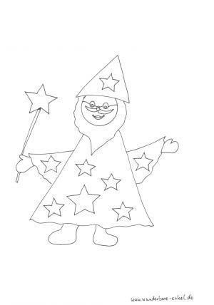 Schablonen Ausmalen Zauberer Abschiedsgeschenk Kindergarten Basteln Ausmalen Zauberer