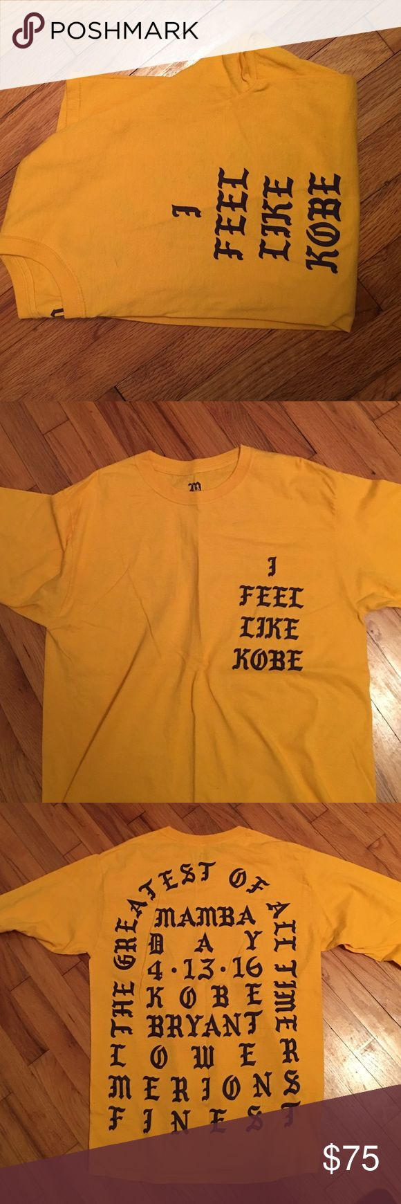 I Feel Like Kobe Yeezy Long Sleeve Shirt Long sleeve I Feel Like Kobe Shirt. Made by Kanye West for Kobe's last game. Part of the Pablo/ Yeezy clothing line. 100 percent authentic purchased from Kanye West's Website. Size medium. Washed once, never worn. Yeezy Shirts Tees - Long Sleeve