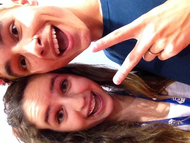 I met Kian Lawley at a signing today at VidCon too! Best moment of my life (:》 that's so cool
