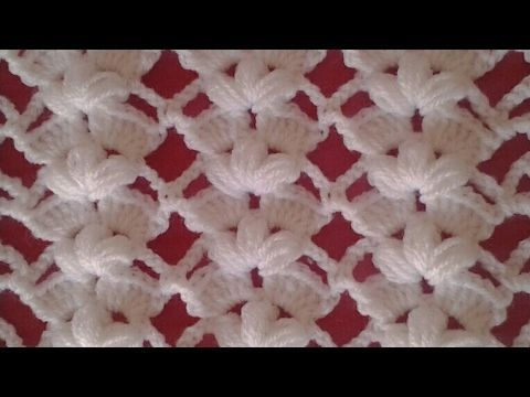 Punto tejido a crochet # 3 para colchitas de bebe - points crocheted - YouTube