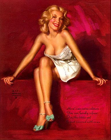Extra Edition Pin Up by Earl Moran: Classic Pinup, Pinup Artists, Vintage Pinup, Pin Up Art, Pinupgirl, Pinup Girls, Earl Moran, Pin Up Girls, Extra Editing