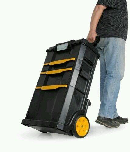 Rolling Portable ToolBox BOSTITCH Drawer Garage Mechanic Case Storage 2 DAY SHIP #Bostitch