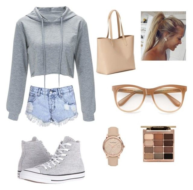 """""""A lazy day"""" by aamanigk on Polyvore featuring Glamorous, Converse, Wildfox, Stila, Burberry and Old Navy"""
