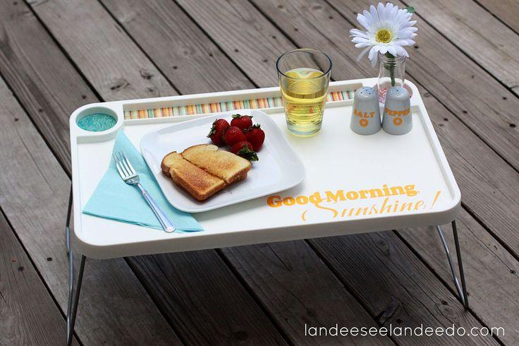 Landee See, Landee Do: IKEA Hack Breakfast Tray Wedding Gift.  Easy, inexpensive and unique!