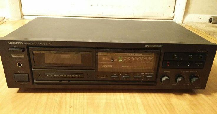 Vintage Onkyo Integra Stereo Cassette Tape Deck Model No. TA-2000 #Onkyo