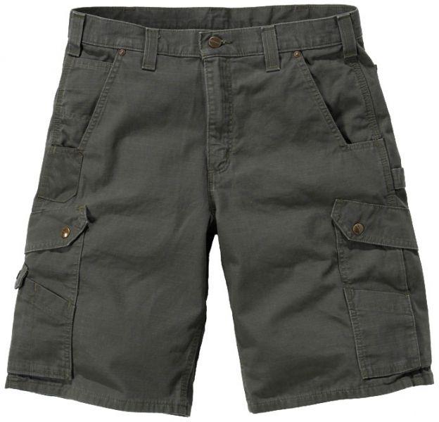 Fede shorts til arbejde og fritid! Carhartt arbejdsshorts Ripstop Cargo Work, 100% bomuld, mos grøn (B357-MOS) - ArbejdsBUKSER - BILLIG-ARBEJDSTØJ.DK