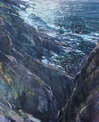 Levant Cliffs, Late Afternoon Light - Paul Lewin - Winter Collection - Beside the Wave