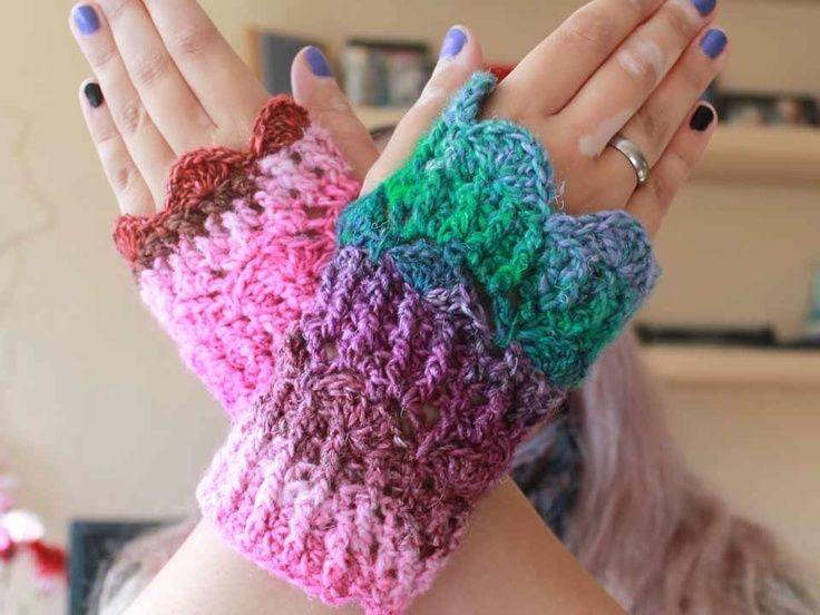 54 besten crochet {hands. wrists.} Bilder auf Pinterest   Handschuhe ...