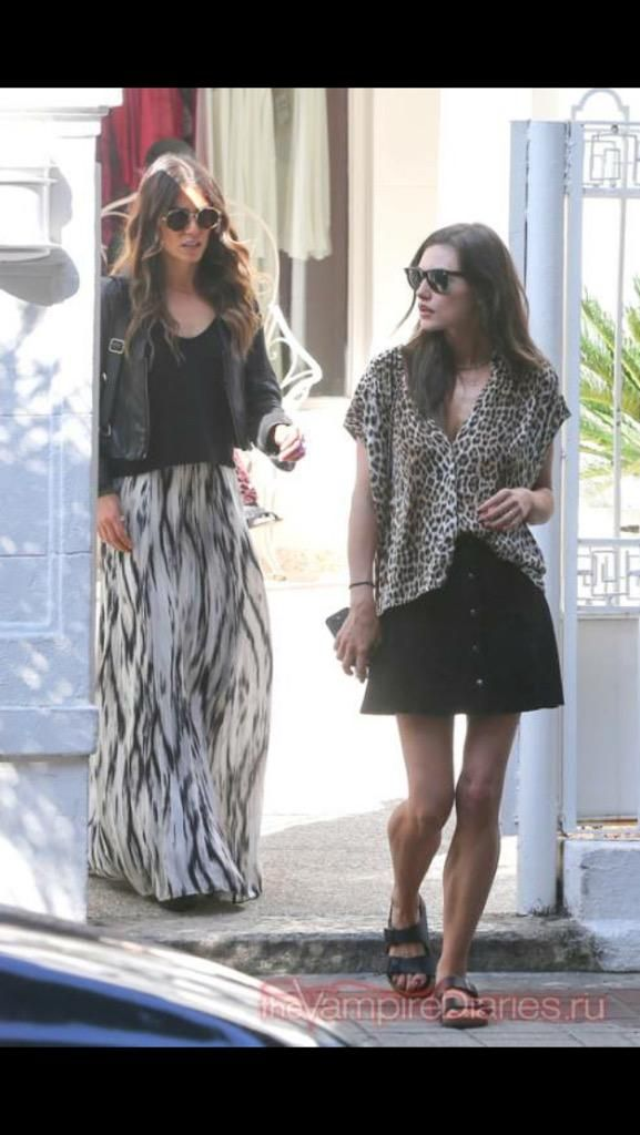 Nikki Reed Somerhalder and Phoebe Tonkin out and about in Brazil while Ian Somerhalder and Paul Wesley are at Vampire Attraction Con in Brazil 2015 (05/02/15)
