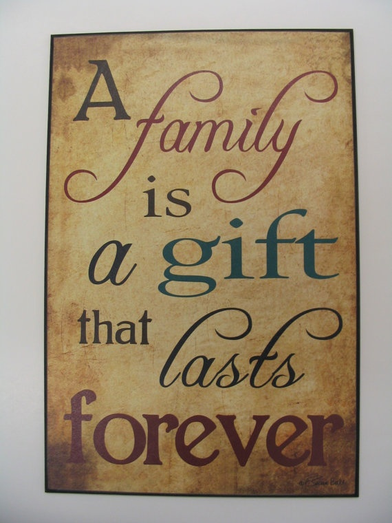 Gift Of Family SB193 by TheCountryNest on Etsy, $30.00