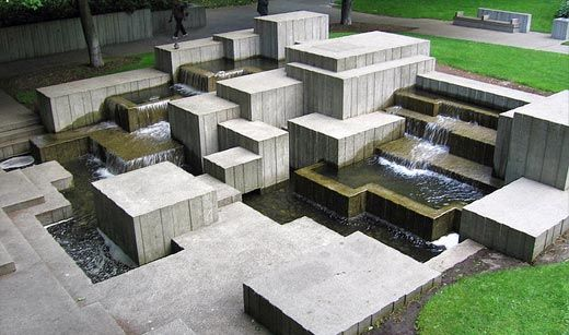 Freeway Park, Seattle, Washington by Lawrence Halprin, 1976