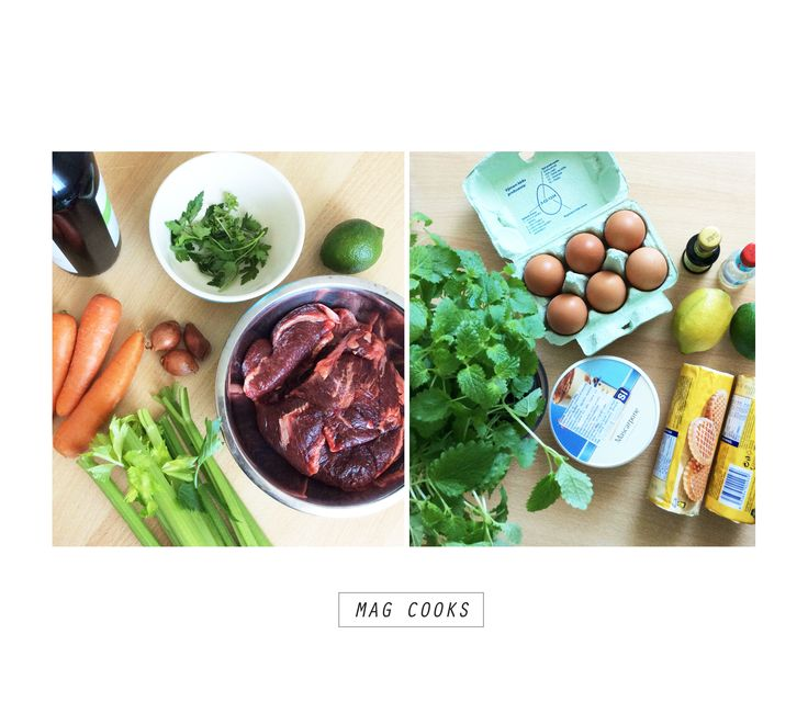All what you need for delicious beef cheeks & lemon cake