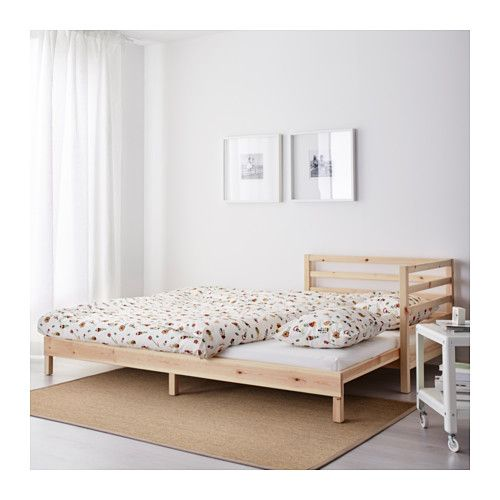 TARVA Daybed with 2 mattresses IKEA The backrest mounts on