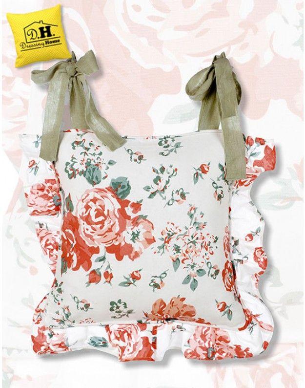 Copricuscino per sedia Shabby Chic Blanc Mariclo Floral Palette ...