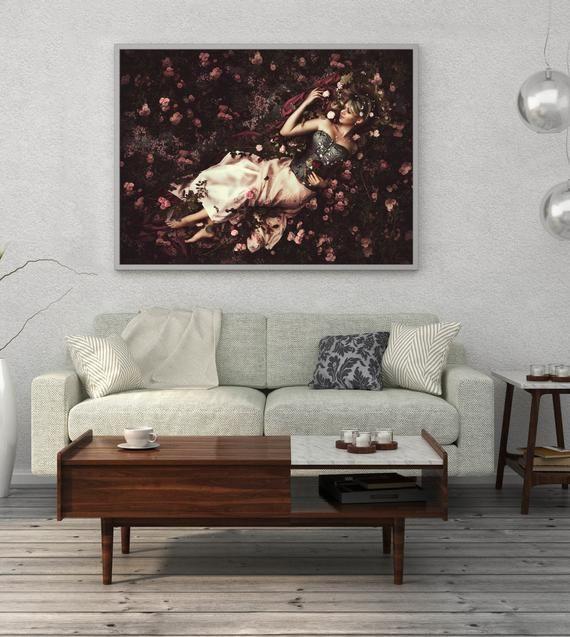 Rustic Modern Living Room Mid Century Modern Living Room Dancing In The Living Room Li In 2020 Oversized Wall Art Photography Prints Art Fine Art Photography Print