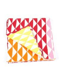 Red Triangles Knit Baby Blanket from Indus Design