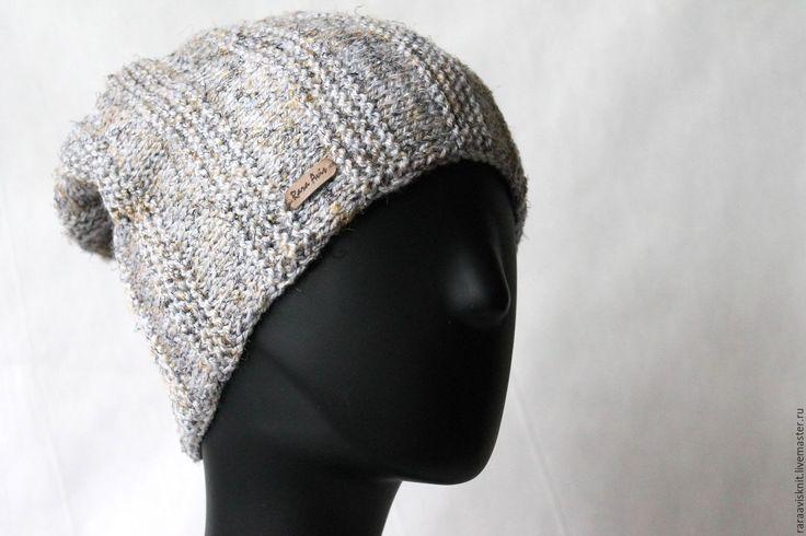 Купить Шапка, вязаная шапка, женская мужская вязаная шапка Зебрум - вязаная…