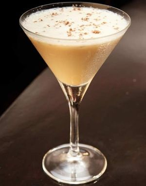 Road runner cocktail.A classic after-dinner alcoholic mixed drink with an almond and coconut finish.