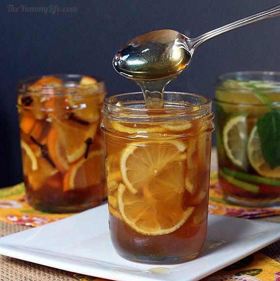 Natural Honey Citrus Syrups for Coughs & Sore Throats