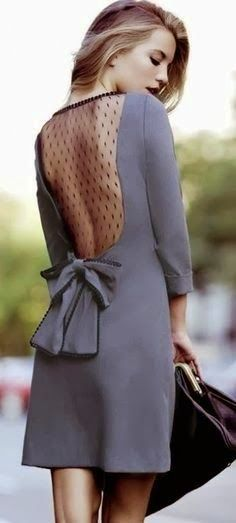 Curating Fashion & Style: Street style | Grey dress, lace back