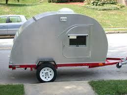 silver teardrop trailer using harbor freight utility trailer