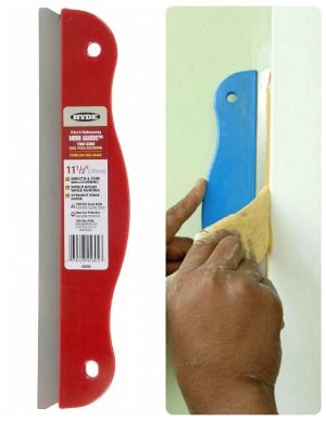 10 must-have painting tools - use a paint guard when doing baseboards and trim. No need to tape the walls!