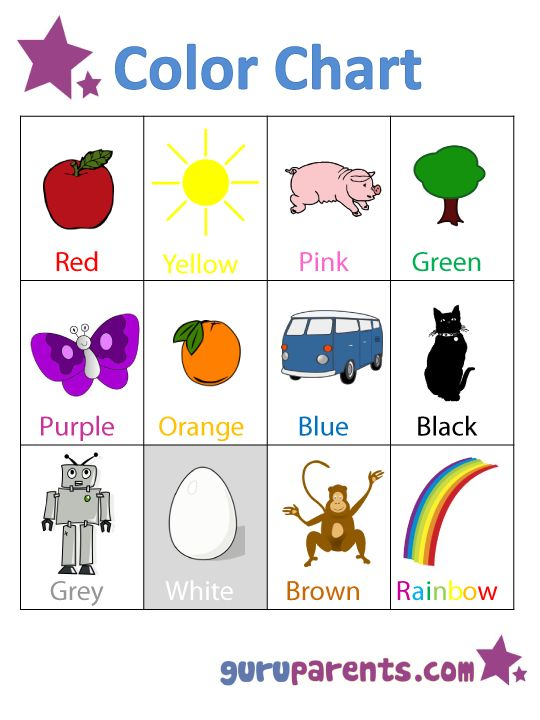 preschool color chart preschool pinterest preschool colors preschool charts and preschool. Black Bedroom Furniture Sets. Home Design Ideas