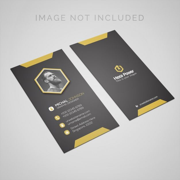 Business Card Mockup With Space For Portrait Photo Business Card Mock Up Printing Business Cards Business Card Template