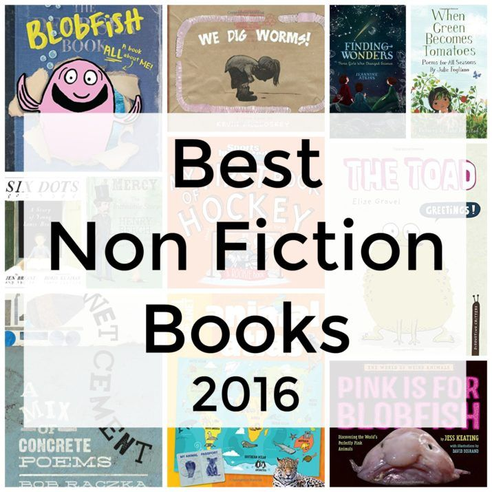Best-nonfiction-books-2016-kids-childrens- posted by Melissa Taylor-If you're looking to find the best nonfiction children's books of 2016, I've got you covered. Here are my favorites — many of them are nonfiction picture books, but you'll also find easy readers, poetry books, chapter books, and informational tomes as well.