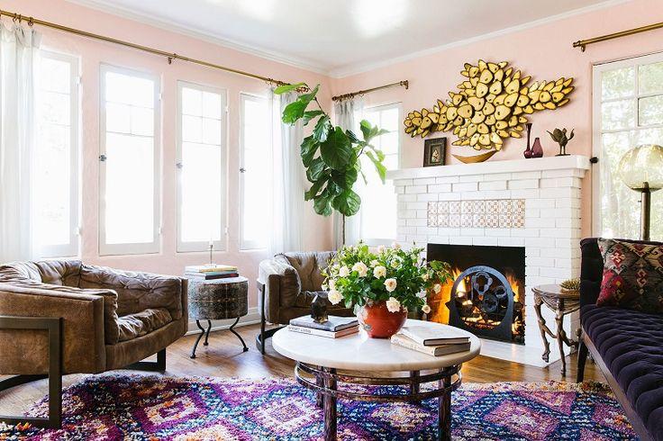 stile bohemien e idee di arredamento per il soggiorno