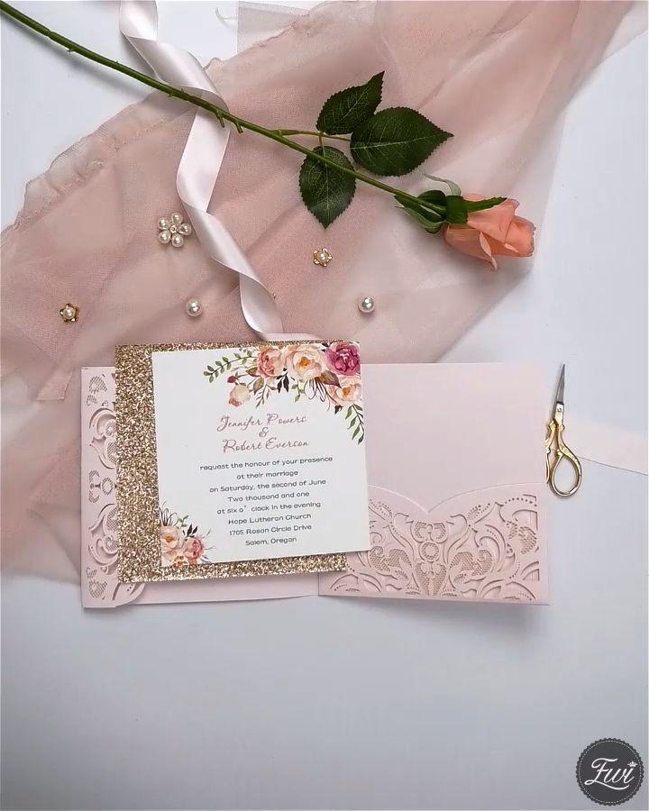 Most Popular Wedding Invitations: Top 20 Most Popular Pink Wedding Invitations From EWI