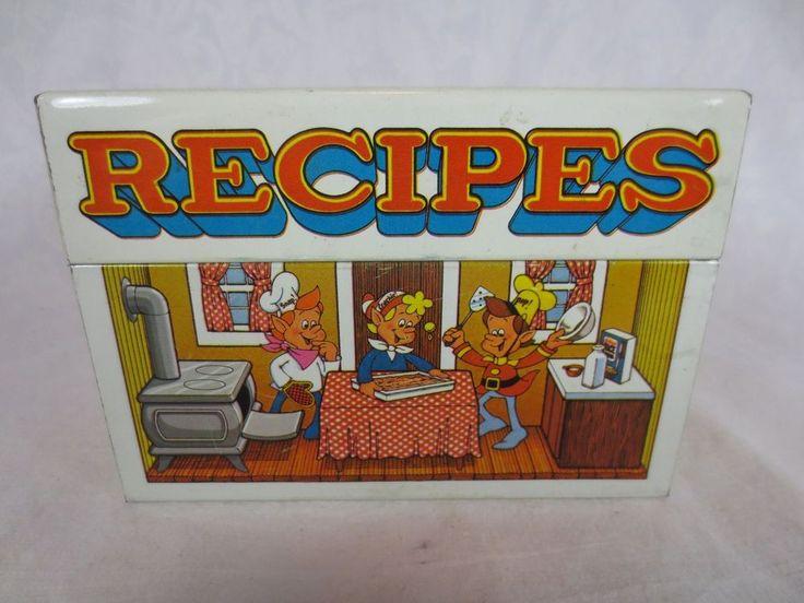 "Vintage SNAP CRACKLE POP RIce Krispies TIN for RECIPES ~3 x 3.5 x 5"" ~Kellogg Co #Kellogg"
