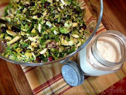 Raw Brussel Sprout and Black Quinoa Warming Salad | A Taste of Vegan ...