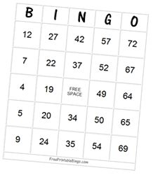 Free Classic Number Bingo Card Maker - Single Card This card maker will print one larger size card on one page. Click the buttons below the card to  generate a new card and to print the current card. free printables