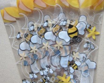 Bumble Bee Birthday Party Personalized Favor Tags Thank You Treat Goody Bags Favors Decorations Set Of 12