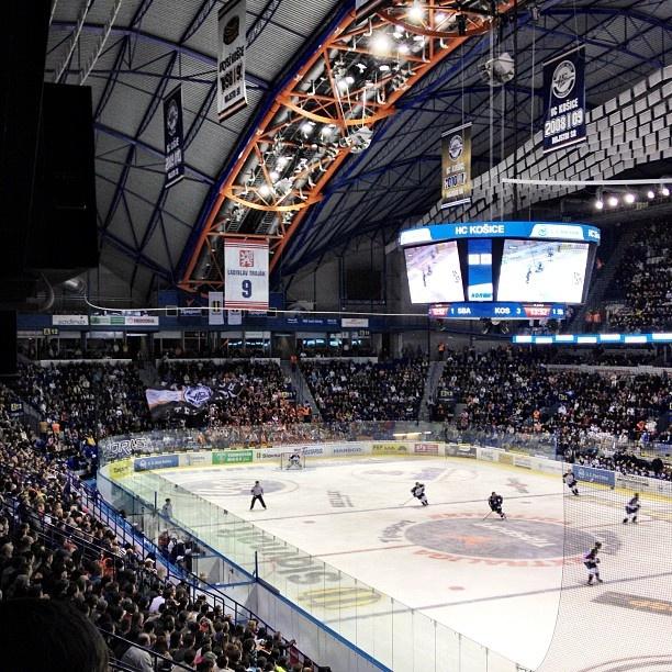 Steel Arena in Košice, Slovakia - hockey match