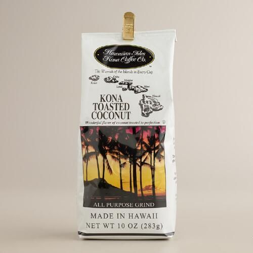 One of my favorite discoveries at WorldMarket.com: Hawaiian Isle Toasted Coconut Kona Coffee