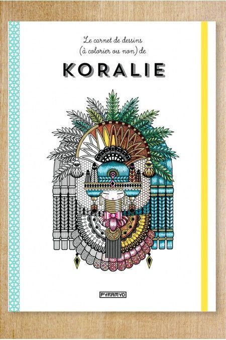 Koralie Coloring book!!!! I think this translates to ? in american dollars :: Carnet de dessins de Koralie