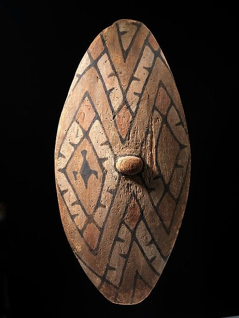 Shield Date: mid to late 19th century Geography: Australia, northeastern Queensland, Queensland Culture: Northeastern Queensland Medium: Wood, paint Dimensions: H. 30 1/2 x W. 14 1/4 x D. 4 5/8 in. (77.5 x 36.2 x 11.7 cm)