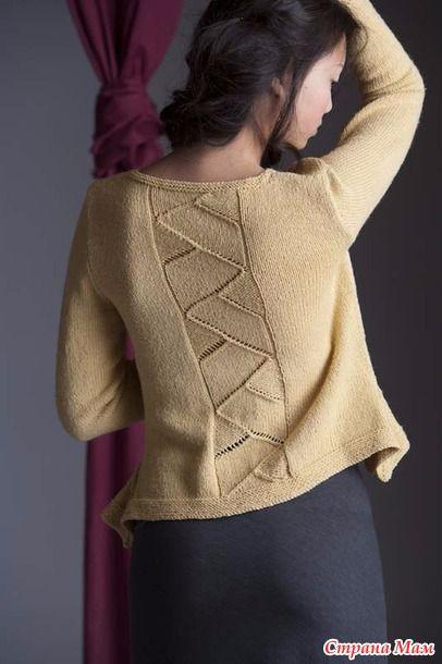 """Пуловер """"Оrigami"""" (вязание спицами)"""