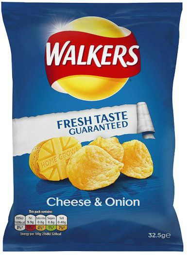 Walkers Crisps - Cheese and Onion - 34.5 G