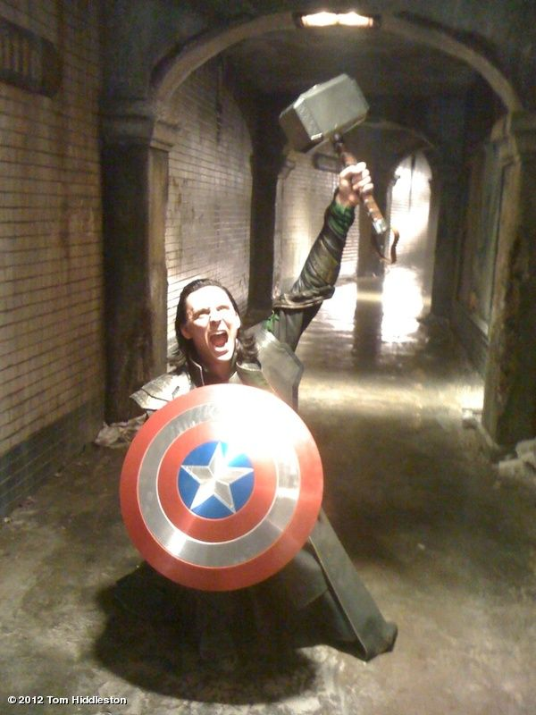 """""""I am Loki, of Asgard, and I am burdened with a glorious Props Department."""": This Man, Loki, Captainamerica, Captain America, Toms Hiddleston, Tomhiddleston, Funny, Tom Hiddleston, The Avengers"""