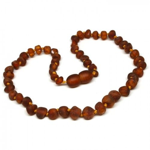 Raw Cognac Nuggets Baltic Amber Baby Teething Necklace - $19.99