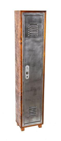 Image result for metal locker wood frame