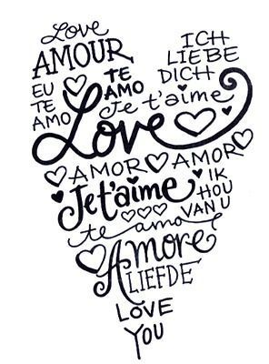 this fits me perfectly ... i always say I love you in french or spanish it just sounds more romantic <3 Te amo
