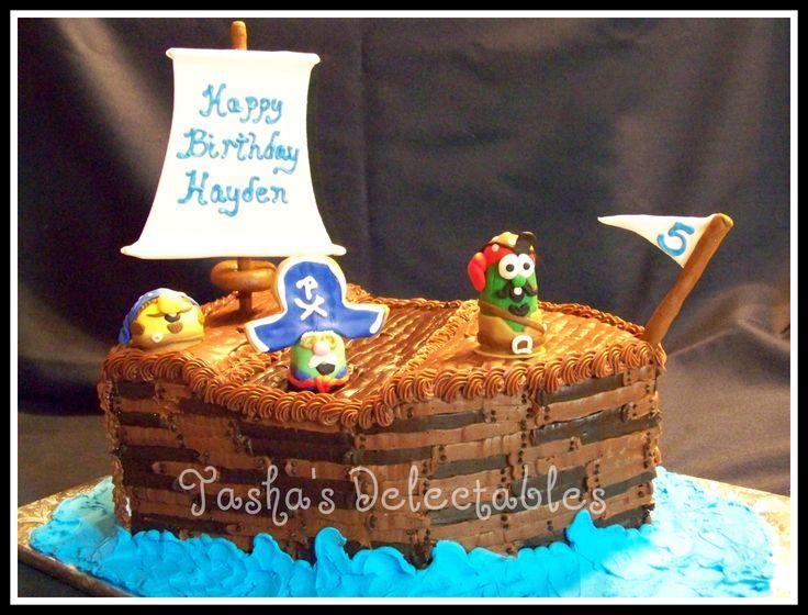 Veggie Tales Birthday Party Cake