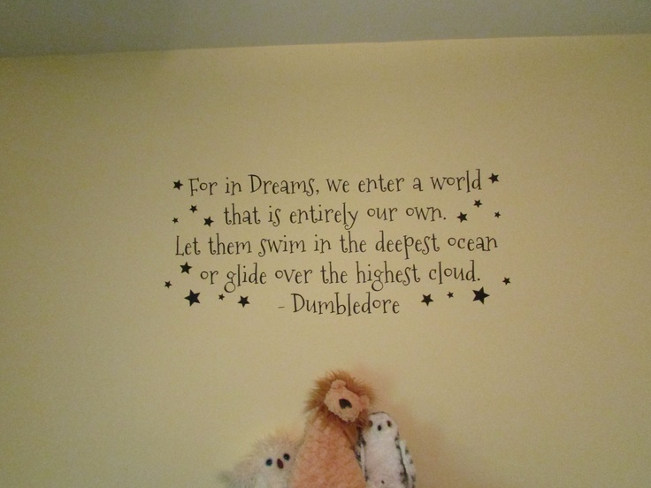 Harry Potter Nursery wall quote.  This WILL be going above the crib! <3