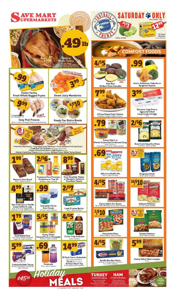 Save Mart Weekly ad November 8 - 14, 2017 - http://www.olcatalog.com/save-mart/save-mart-weekly-ad.html