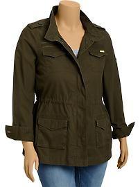 Military-Style Canvas Jacket