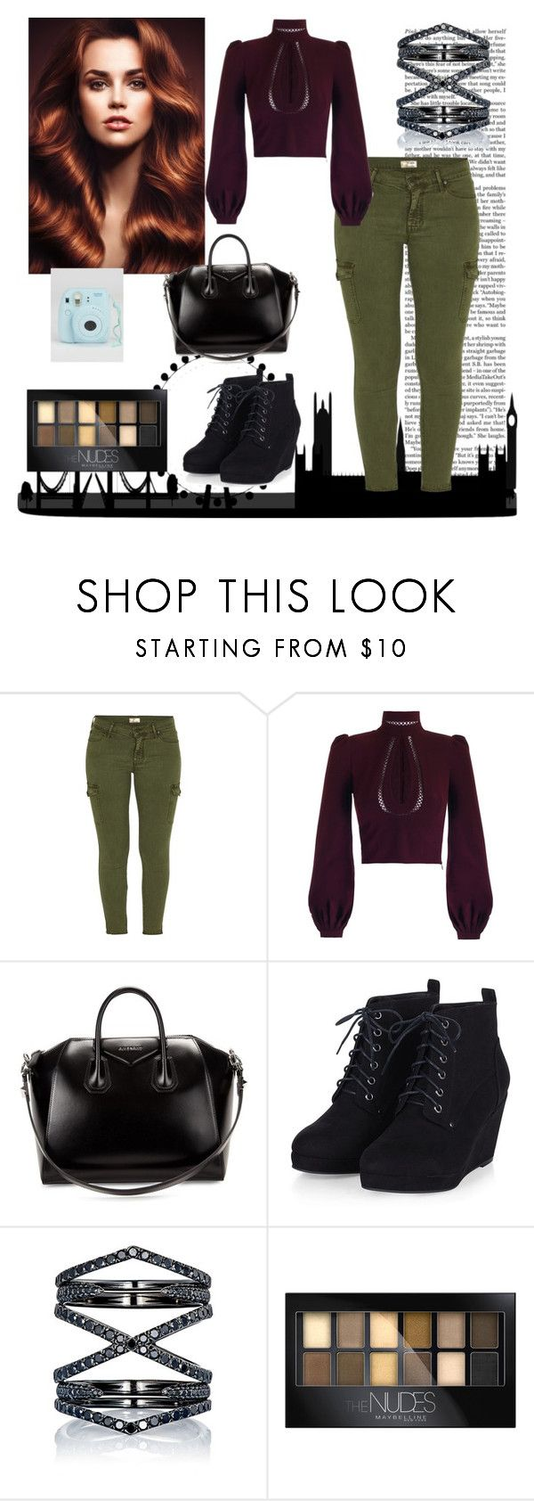 """Modeling"" by jessicakim825 ❤ liked on Polyvore featuring beauty, Nicki Minaj, Mother, Givenchy, Eva Fehren and Maybelline"